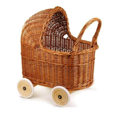 Egmont Toys Wicker Pram with Bedding - Large
