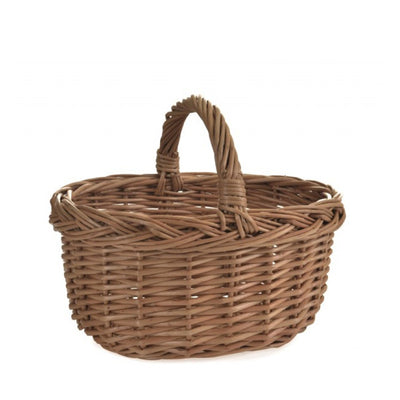 Egmont Toys Rattan Oval Basket - Child