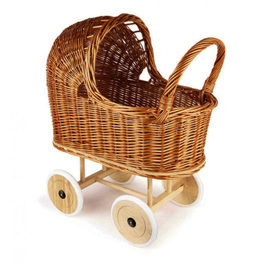 Egmont Toys Wicker Pram with Bedding