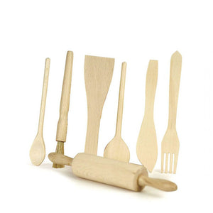 Egmont Toys Wooden Utensils - Set of 7
