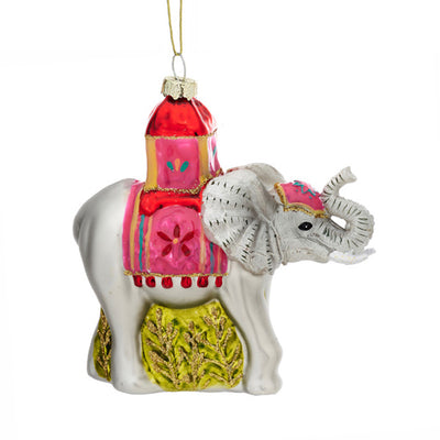 Glass Shaped Christmas Bauble - Elephant