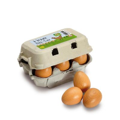 Erzi Eggs - Brown Sixpack