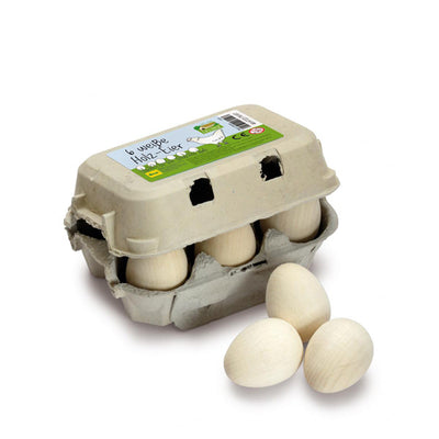 Erzi Eggs - White Sixpack
