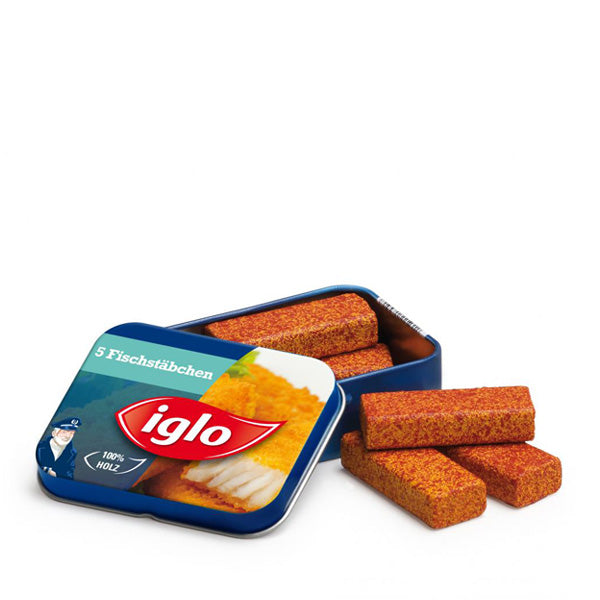 Erzi Fish Fingers Iglo in a Tin
