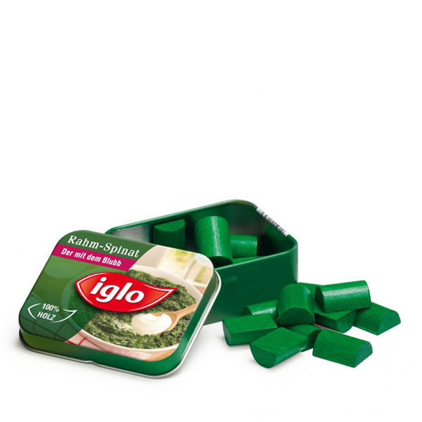 Erzi Spinach Iglo in a Tin
