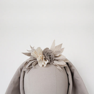 Fabels Out Of Vintage Flower Crown - Pebble Grey