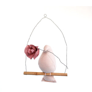 Fabels Out Of Vintage Mama Bird Flower - Dusty Pink