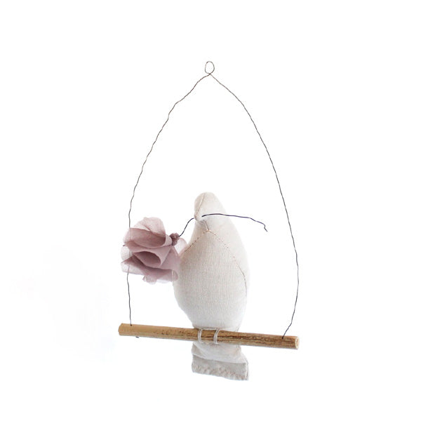 Fabels Out Of Vintage Mama Bird Flower - Pebble Grey