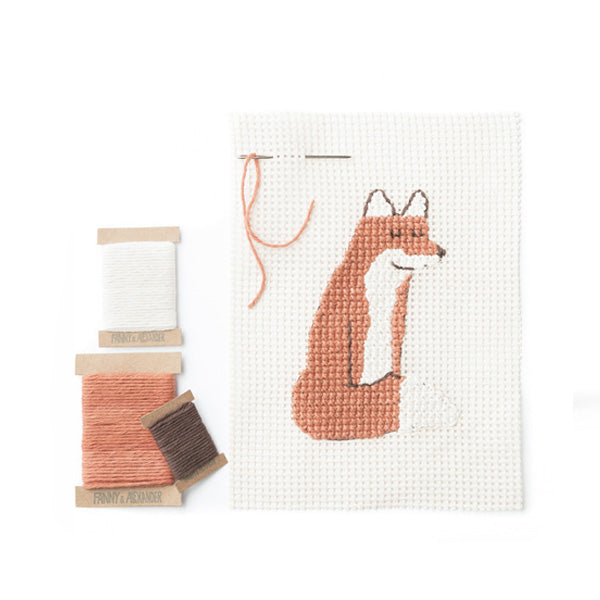 Fanny And Alexander Cross Stitch Kit - Fox