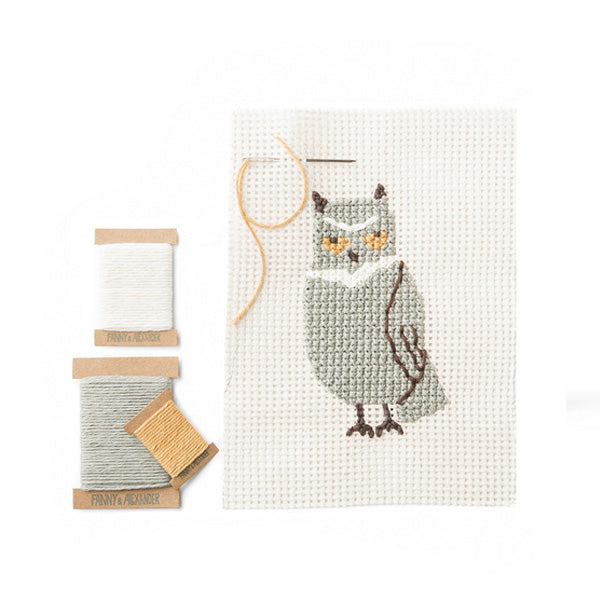 Fanny And Alexander Cross Stitch Kit – Owl