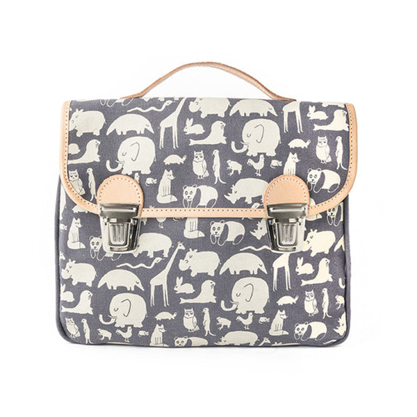 Fanny And Alexander Satchel Animal Print – Blue