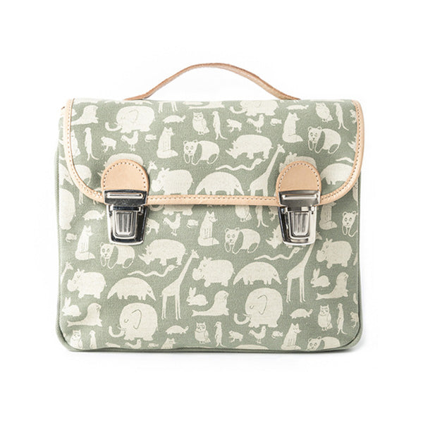 Fanny And Alexander Satchel Animal Print - Green