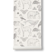 Ferm Living Katie Scott Wallpaper - Animals - Off White