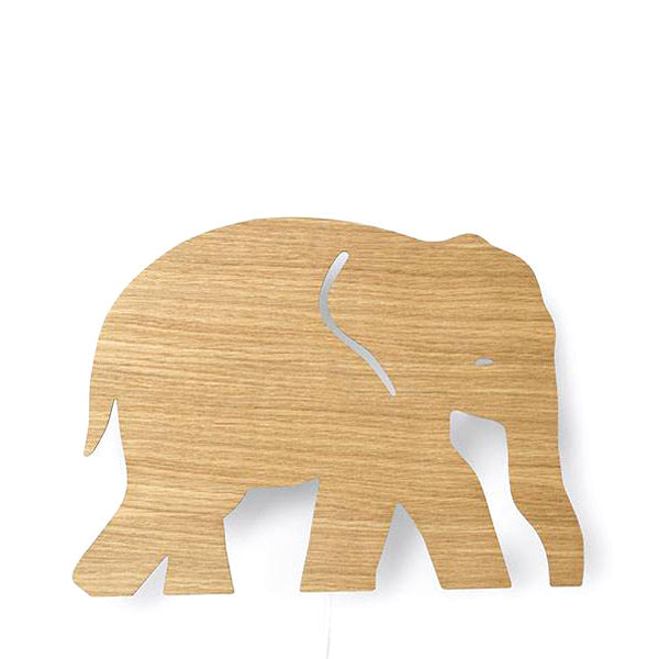 Ferm Living Kids Elephant Lamp - Oiled Oak