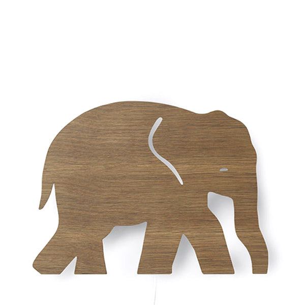Ferm Living Kids Elephant Lamp - Smoked Oak