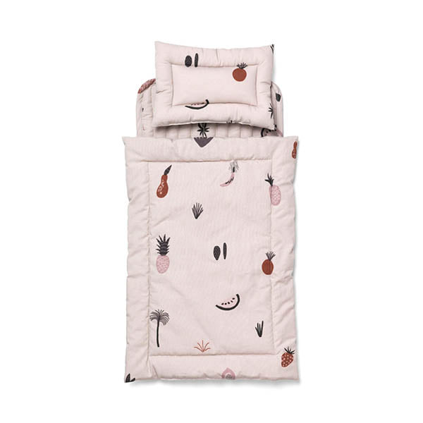 Ferm Living Kids Doll Quilt Bedding Set - Fruiticana