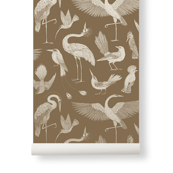 Ferm Living Katie Scott Wallpaper - Birds - Sugar Kelp