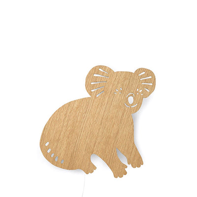 Ferm Living Kids Koala Lamp - Oiled Oak