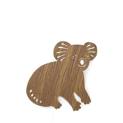 Ferm Living Kids Koala Lamp - Smoked Oak