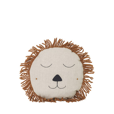 Ferm Living Kids Safari Cushion – Lion – Natural