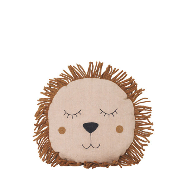 Ferm Living Kids Safari Cushion – Lion – Rose