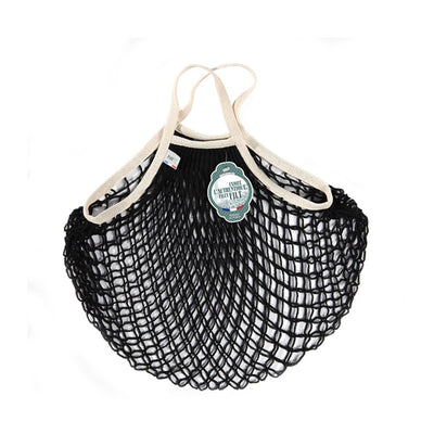 Filt Net Bag Black and Ecru – Short Handles