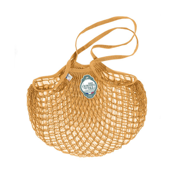 Filt Net Bag Yellow Gold – Long Handles - Elenfhant