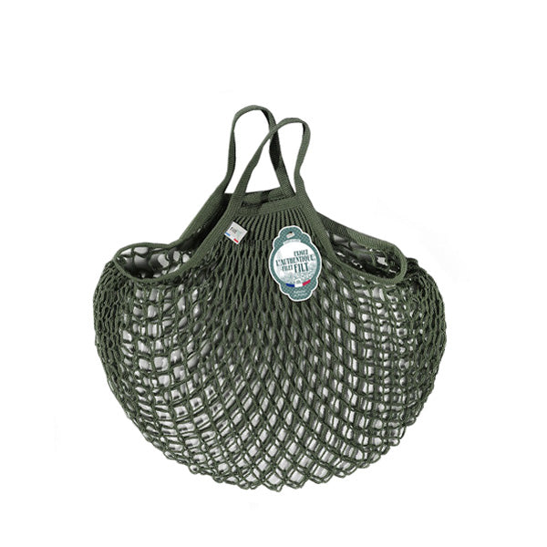 Filt Net Bag Khaki Green – Short Handles