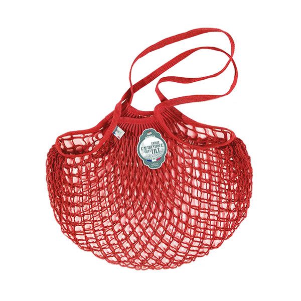 Filt Net Bag Anemone Red – Long Handles