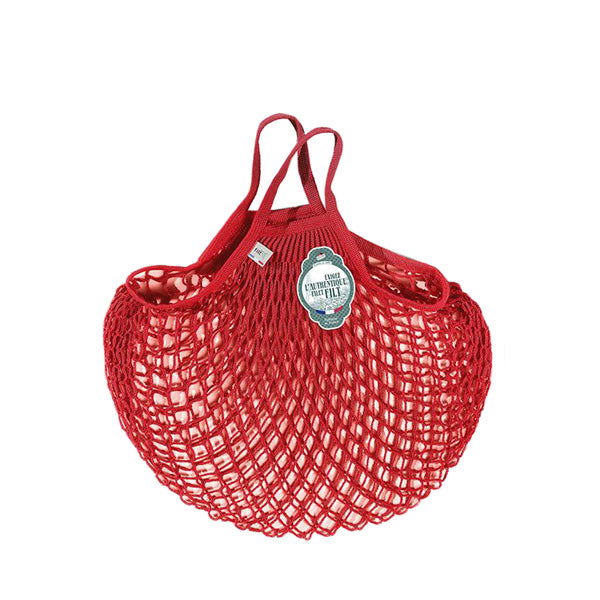 Filt Net Bag Anemone Red – Short Handles