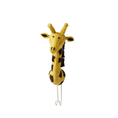 Fiona Walker Animal Head Hook – Giraffe Yellow