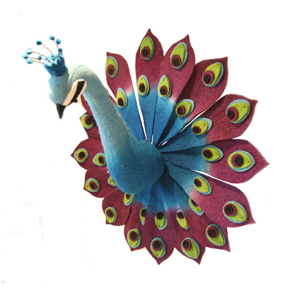 Fiona Walker Animal Head – Peacock