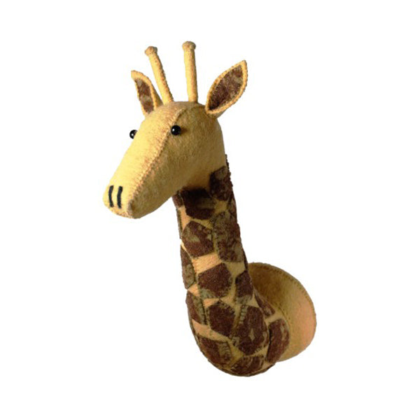 Fiona Walker Animal Head – Tie Dye Patch Giraffe