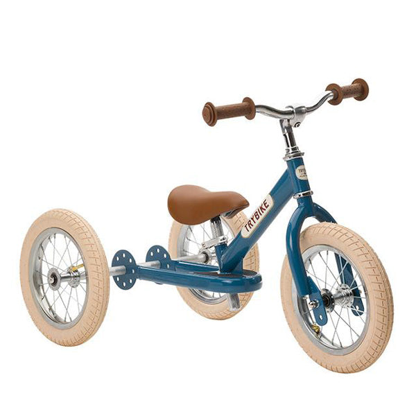Trybike 2-in-1 Balance Bike Steel - Vintage Blue