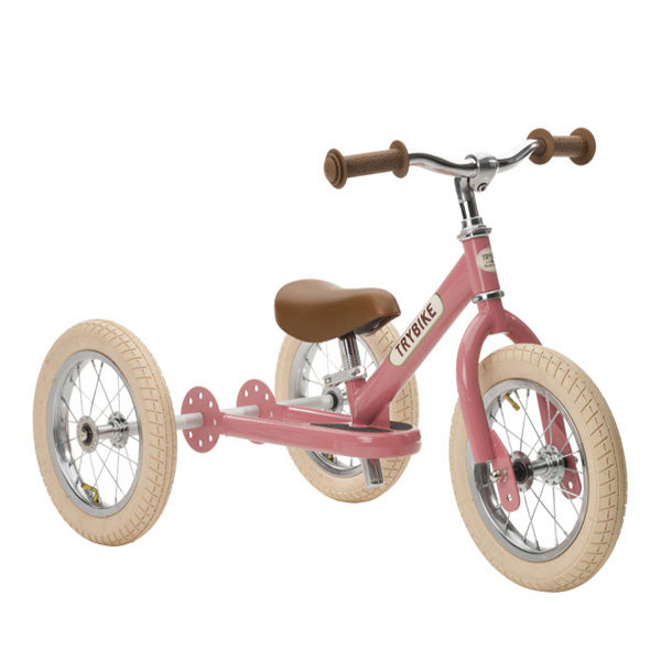 Trybike 2-in-1 Balance Bike Steel - Vintage Pink