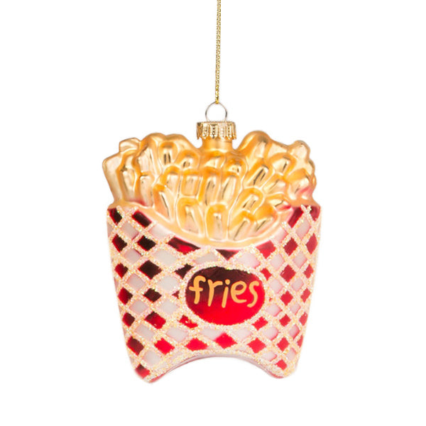 Glass Shaped Christmas Bauble - French Fries