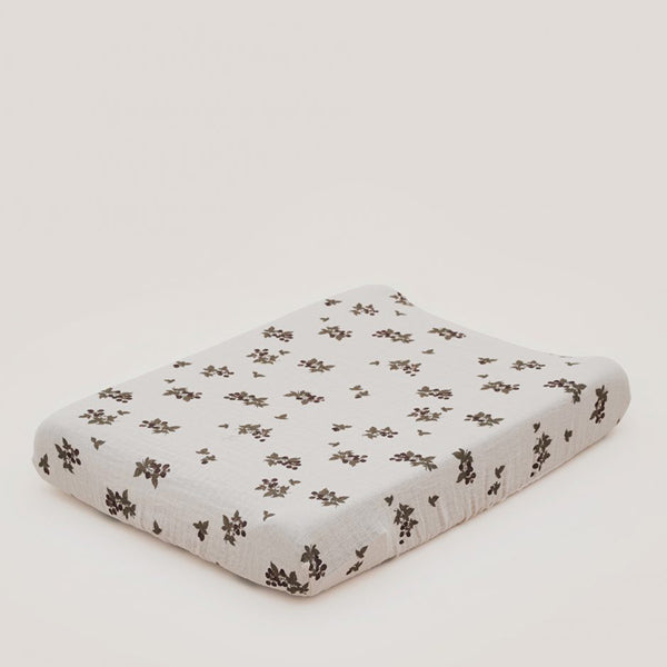 Garbo&Friends Muslin Changing Mat Cover - Blackberry