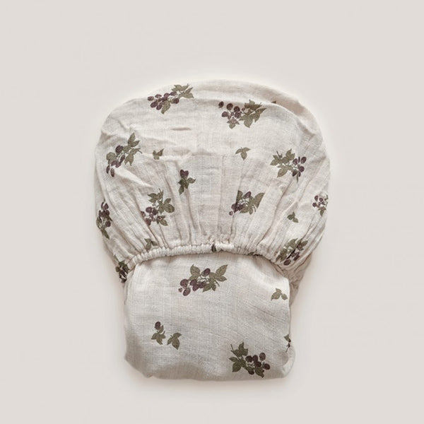 Garbo&Friends Muslin Fitted Sheet – Blackberry