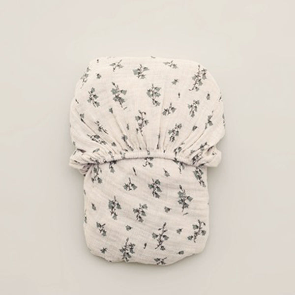 Garbo&Friends Muslin Fitted Sheet – Bluebell
