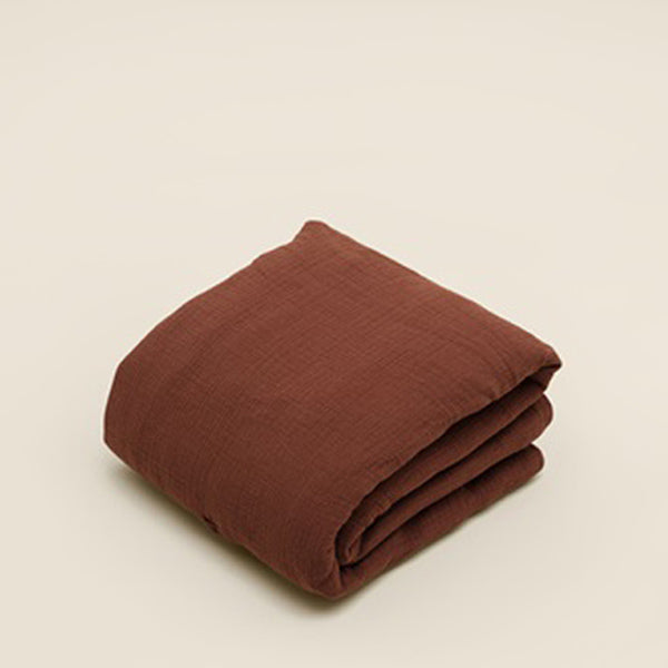 Garbo and Friends Muslin Filled Quilt – Cinnamon