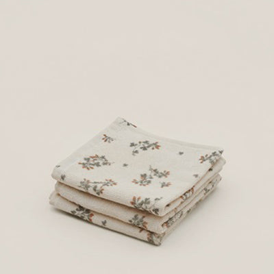 Garbo&Friends Face Towel 3pcs - Clover