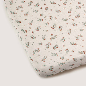 Garbo&Friends Muslin Fitted Sheet – Clover