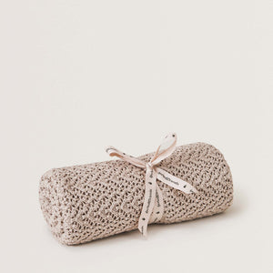 Garbo&Friends Crochet Cotton/Wool Blanket – Beige