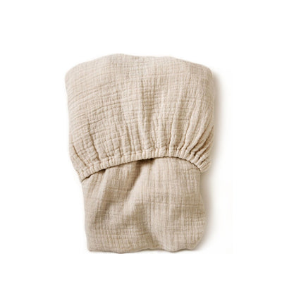 Garbo&Friends Muslin Fitted Sheet – Eggshell