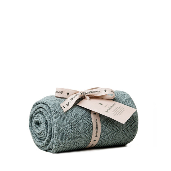 Garbo and Friends Cotton Blanket – Ollie Teal