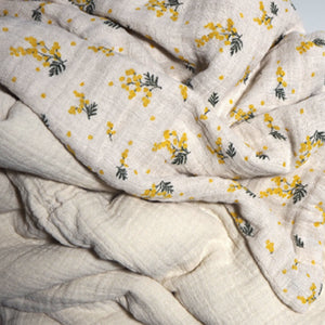 Garbo&Friends Filled Muslin Quilt - Mimosa