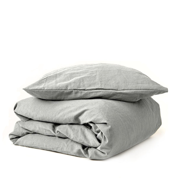 Garbo and Friends Linen Duvet Cover Set – Sage