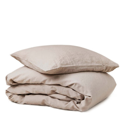 Garbo and Friends Linen Duvet Cover Set – Vanilla