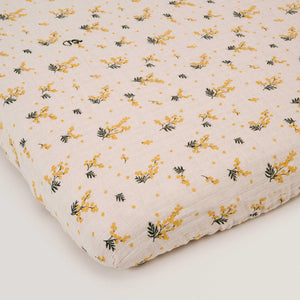 Garbo&Friends Muslin Fitted Sheet – Mimosa
