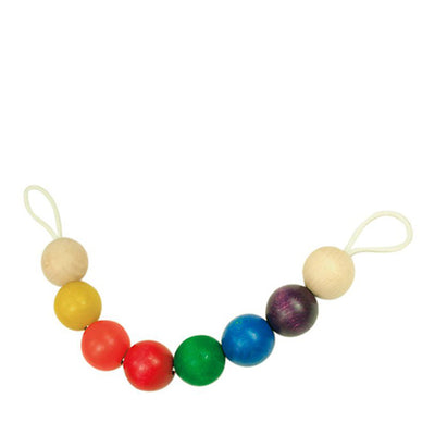 Glückskäfer Pram Chain Wooden Balls - Multicolor